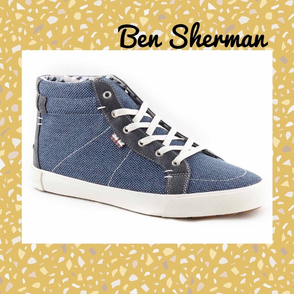 Ben Sherman Other - (P) BEN SHERMAN▪️Men's Denim High Top Sneakers
